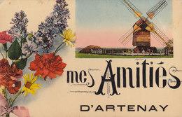 45  ARTENAY   ...  MES AMITIES / .MOULIN A VENT / WINDMILL    ///////  REF  NOV.  17  BO. 45 - Artenay