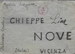 WW2 1944 Prigionieri Di Guerra - Corrispondenza Dalla Polonia Per Nove (Vicenza) - Prigione E Prigionieri