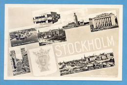 PC SCANDINAVIA SVERIGE SWEDEN STOCKHOLM VIEWS 1950 Years - Postcards