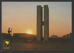 Postcard 1970years BRASIL BRAZIL BRASÍLIA  ... SUNSET & ARCHITECTURE - Postcards