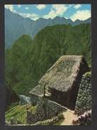 MACHUPICCHU POSTCARD PERU PERÚ ANDES INCAS TYPICAL  INCA HOUSE 1970years - Postcards