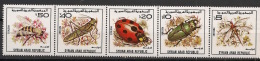 Syrie - 1982 - N°Yv. 672 à 676 - Insectes - Neuf Luxe ** / MNH / Postfrisch - Insekten