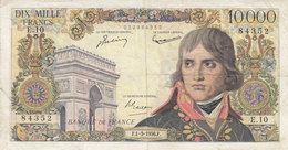 Billet 10000 F Bonaparte Du 1-3-1956 FAY 51.2 Alph. E.10 - 10 000 F 1955-1958 ''Bonaparte''