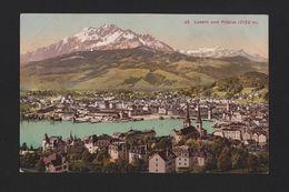 1910years Postcard SWITZERLAND LUZERN LUCERNE PILATUS ALPS SUISSE HELVETIA Z1 - Postcards