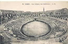 38. NIMES . LES ARENES , VUE INTERIEURE . NON ECRITE - Nîmes