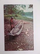 PANAMÁ PANAMA DARIEN INDIO CHOCO & PIRAGUA 1960 YEARS POSTCARD Z1 - Postcards
