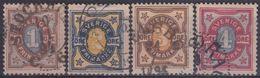 SUECIA 1892 Nº 51/54 USADO - Sweden