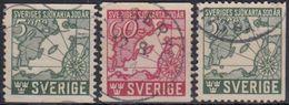 SUECIA 1944 Nº 305/06 + 305a USADO - Sweden