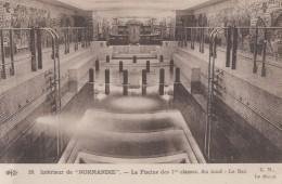 """Bâteaux - Intérieur Paquebot """"Normandie"""" - Piscine - Dampfer"""