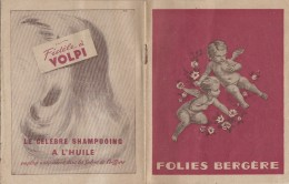 Vieux-Papiers - Programme 10 Feuillets - Théâtre Folies Bergère - Anges - Publicité Parfum- Femme Nue Bas Corset Kestos - Programs