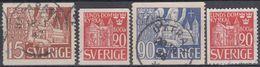 SUECIA 1946 Nº 319/21 + 320a USADO - Sweden
