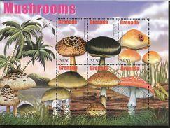 J) 2008 GRENADA, TROPICAL MUSHROOMS, BIRD, LADYBUG, SOUVENIR SHEET, MNH - Grenade (1974-...)