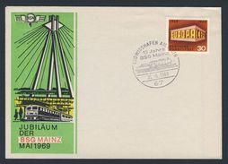 Deutschland Germany 1969 Cover / Brief / Lettre - Jubiläum BSG MAINZ - Briefmarkengemeinschaft / Stamp Community - Treinen