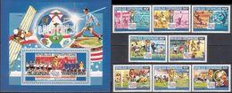 Soccer Football Central Africa Centrafricaine #1517/24 + Bl 546  World Cup USA 1994 MNH ** - 1994 – USA