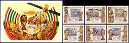 Soccer Football Central Africa Centrafricaine #1665/70 + Bl 572  World Cup USA 1994 MNH ** - Coupe Du Monde