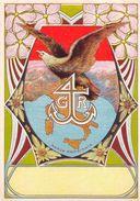 """06871 """"4 G R - BIANCHERIA - AQUILA""""  ETICHETTA ORIGINALE - ORIGINAL LABEL FOR THREADS - Adesivi"""