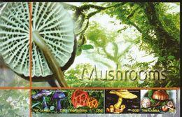 J) 2004 GAMBIA, MUSHROOMS, LANSCAPE, NATURE, SOUVENIR SHEET, MNH - Gambia (1965-...)