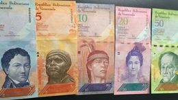L) 2012 VENEZUELA, BANKNOTES, FRANCISCO DE MIRANDA, 2 BOLIVARS, BLACK FIRST, 5 BOLIVARS, GUAICAIPURO, INDIAN, 10 - Venezuela