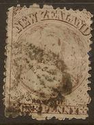 NZ 1871 1d Brown FFQ No Wmk SG 137 U* #ACI54 - 1855-1907 Colonie Britannique