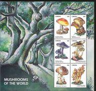 J) 2002 LIBERIA, MUSHROOMS OF THE WORLD, TREE, SOUVENIR SHEET, MNH - Liberia