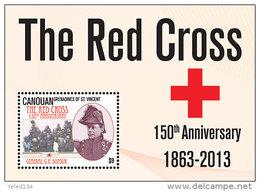 CANOUAN Of ST.VINCENT ; SCOTT # ; IGPC 1306 S ; MINT N H STAMPS (  RED CROSS - St.Vincent Und Die Grenadinen