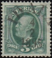 SWEDEN - Scott #56a King Oscar II (*) / Used Stamp - Gebraucht