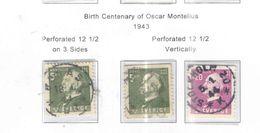 Svezia PO 1943 Montelius Scott.345/347 See Scans - Used Stamps