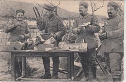 CPA Allemande-Militaires Soldats Allemand Ouvrant Leur Colis-1917 (guerre 14-18)2scans - Oorlog 1914-18