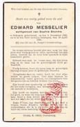 DP Edward Messelier ° Bekegem Ichtegem 1863 † 1936 X Sophia Storme - Devotion Images