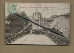 CPA - Rabastens - Pont Suspendu Et église Du Bourg - Rabastens