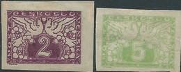 STAMPS - Czechoslovakia CECOSLOVACCHIA 1919 - Value Of 2 & 5 Mint- Imperforate - Cecoslovacchia