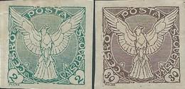 STAMPS - Czechoslovakia CECOSLOVACCHIA 1919 - Value Of 2 & 30 Mint- Imperforate - Cecoslovacchia