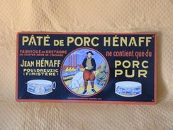 """Plaque Métal """"PATE De PORC HENAFF"""" - Advertising (Porcelain) Signs"""