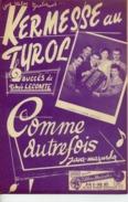 ACCORDÉON BELGIQUE VERVIERS PARTITION KERMESSE TYROL COMME AUTREFOIS THÉO LECOMTE CHARLEY SHOW VALSE - Musique & Instruments