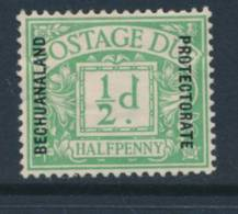BECHUANALAND, 1926 ½d Postage Due Fine MM - 1885-1895 Crown Colony