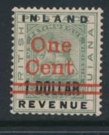 BRITISH GUIANA, 1890 1c On $1 Very Fine MM - British Guiana (...-1966)