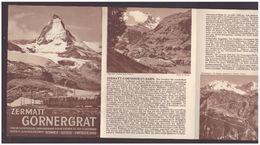 ( 49 ) VALAIS SUISSE - ZERMATT GORNERGRAT BAHN - PANORAMA - DEPLIANT 8 VOLETS - TB - Toeristische Brochures