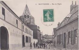 CP  59  WATTIGNIES RUE DE L'EGLISE - Otros Municipios