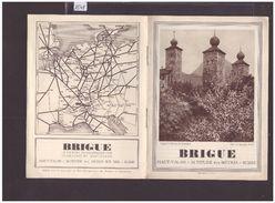 VALAIS SUISSE - BRIG - BRIGUE - CARNET DE 12 PAGES - TB - Dépliants Turistici
