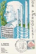 1986 Pozzuoli PERGOLESI MUSIC EVENT COVER Card ITALY Stamps Postcard - Music