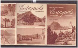TESSIN SUISSE - LAGO DI LUGANO - CASTAGNOLA - DEPLIANT 4 VOLETS - TB - Toeristische Brochures