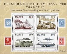 NORWEX EXPO 1980 Norwegen Block 3 ** 4€ Verkehr Dampfer Lok Bus Flugzeuge 737/DC9 Ss Bloc M/s Trafic Sheet Bf Norge - Busses