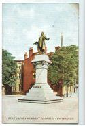 19120  CPA  Statue Of President Garfield , CINCINNATI  1909 - Cincinnati