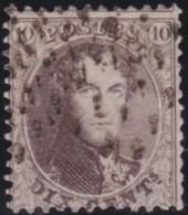 Belgie   .     OBP .    14 A    .   Perf.  12 1/2  X 13 1/2  .      O     .     Gebruikt   .    /    .     Oblitéré - 1863-1864 Médaillons (13/16)