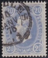 Belgie   .     OBP .      31            .      O     .     Gebruikt   .    /    .     Oblitéré - 1869-1883 Leopold II.