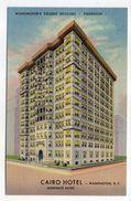 USA--Washington D.C  --CAIRO  Hotel --Washington Tallest Building--Fireproof--carte Publicitaire De L'Hotel - Washington DC