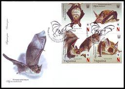 UKRAINE 2016. WWF. BECHSTEIN'S BAT - Myotis Bechstenii. Mi-Nr. 1593-96 FDC - Ukraine