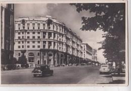Post Card :  Moscou  (Russie) Les Nouveaux Immeubles Rue Gorki     Propagande Radio-Moscou - Russie