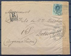 1918 , MADRID , CERTIFICADO A DOTTIKON , CENSURA FRANCESA , ED. 277 , LLEGADA AL DORSO - Cartas