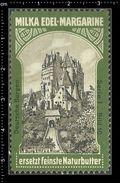 German Poster Stamps, Reklamemarke, Milka Margarine, Butter, Burg, Castle, Schloss, Eltz - Castelli